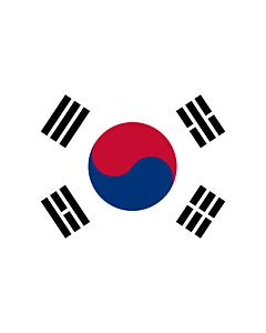 Drapeau: Corée du Sud |  drapeau paysage | 2.16m² | 120x180cm