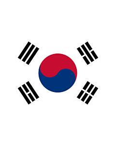 Flag: Korea (Republic) (South Korea) |  landscape flag | 3.375m² | 36sqft | 150x225cm | 5x7.5ft