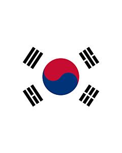 Drapeau: Corée du Sud |  drapeau paysage | 6.7m² | 200x335cm