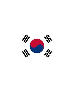 Ausleger-Flagge:  Korea (Republik) (Südkorea)  |  Hochformat Fahne | 6m² | 400x150cm