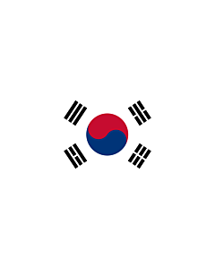 Drapeau: bannière drapau avec tunnel sans crochets Corée du Sud |  portrait flag | 6m² | 400x150cm