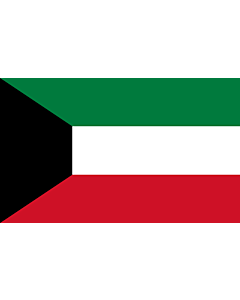 Flag: Kuwait |  landscape flag | 1.35m² | 14.5sqft | 90x150cm | 3x5ft