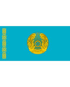Flagge: Large President of Kazakhstan | Standard of the President of Kazakhstan | Қазақстан президентінің байрағы | Штандарт президента Казахстана  |  Querformat Fahne | 1.35m² | 80x160cm