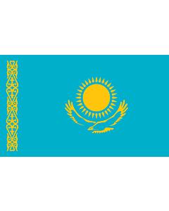 Flag: Kazakhstan |  landscape flag | 2.4m² | 26sqft | 120x200cm | 4x7ft