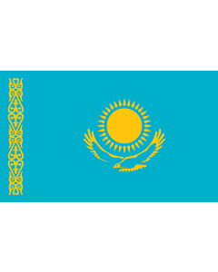 Flagge: XXL+ Kasachstan  |  Querformat Fahne | 3.75m² | 150x250cm