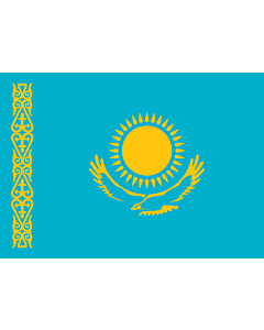Flagge: Small Kasachstan  |  Querformat Fahne | 0.7m² | 70x100cm