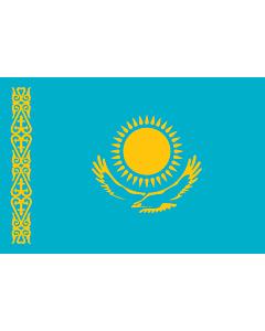 Flag: Kazakhstan |  landscape flag | 1.5m² | 16sqft | 100x150cm | 3.5x5ft