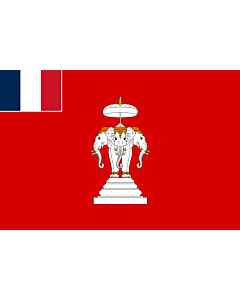 Bandera: Laos francés, 1893 - 1952 |  bandera paisaje | 1.35m² | 90x150cm
