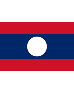 Bandera: Laos |  bandera paisaje | 0.06m² | 20x30cm