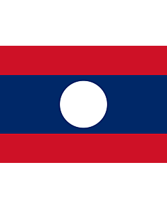 Bandera: Laos |  bandera paisaje | 0.7m² | 70x100cm