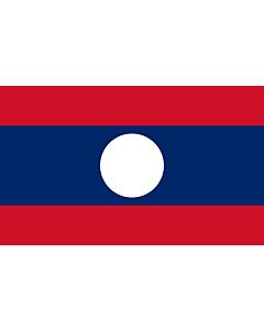 Flag: Lao People's Democratic Republic |  landscape flag | 1.35m² | 14.5sqft | 90x150cm | 3x5ft