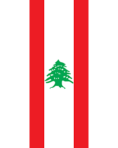 Vertical Hanging Beam Flag: Lebanon |  portrait flag | 3.5m² | 38sqft | 300x120cm | 10x4ft