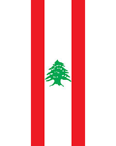 Vertical Hanging Beam Flag: Lebanon |  portrait flag | 6m² | 64sqft | 400x150cm | 13x5ft