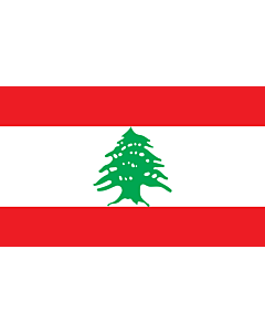 Table-Flag / Desk-Flag: Lebanon 15x25cm