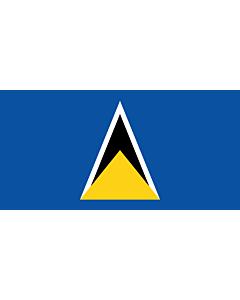 Flag: Saint Lucia, 1979 |  landscape flag | 2.16m² | 23sqft | 100x200cm | 40x80inch