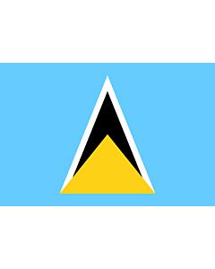 Flag: Saint Lucia |  landscape flag | 1.5m² | 16sqft | 100x150cm | 3.5x5ft