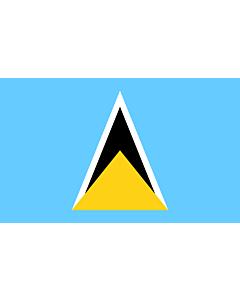 Flag: Saint Lucia |  landscape flag | 6.7m² | 72sqft | 200x335cm | 6x11ft