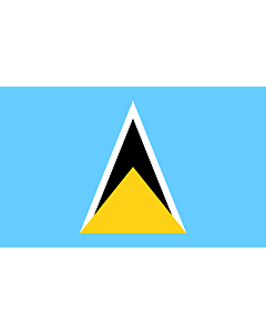 Table-Flag / Desk-Flag: Saint Lucia 15x25cm