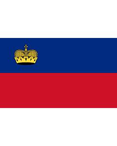 Bandera: Liechtenstein |  bandera paisaje | 0.7m² | 70x100cm