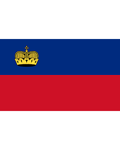 Bandera de Interior para protocolo: Liechtenstein 90x150cm
