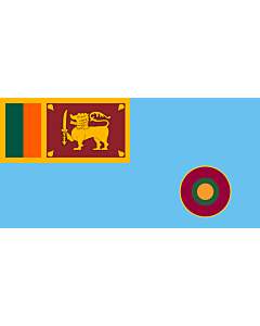 Flag: Ensign of the Sri Lanka Air Force |  landscape flag | 1.35m² | 14.5sqft | 80x160cm | 30x60inch