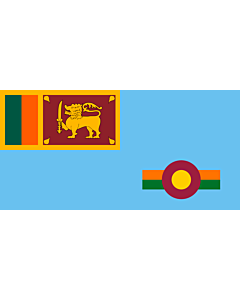 Flag: Ensign of the Sri Lanka Air Force 1971-2010 |  landscape flag | 2.16m² | 23sqft | 100x200cm | 40x80inch