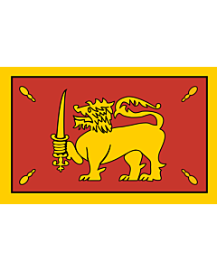 Flagge: Large King of Kandy in 1815  |  Querformat Fahne | 1.35m² | 90x150cm