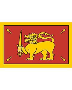 Drapeau: King of Kandy in 1815 |  drapeau paysage | 1.35m² | 90x150cm