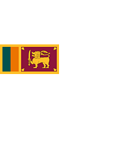 Flag: Naval Ensign of Sri Lanka |  landscape flag | 1.35m² | 14.5sqft | 80x160cm | 30x60inch