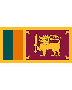 Flagge: Large+ Sri Lanka  |  Querformat Fahne | 1.5m² | 85x170cm