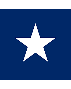 Flag: The Star in Blue Box from flag of Liberia |  1.35m² | 14.5sqft | 120x120cm | 45x45inch