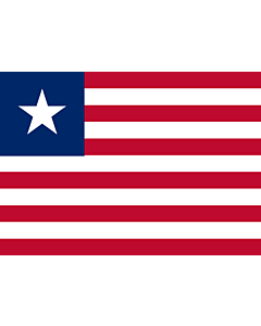 Flag: Liberia |  landscape flag | 0.7m² | 7.5sqft | 70x100cm | 2x3ft