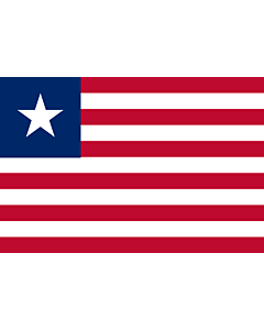 Flag: Liberia |  landscape flag | 1.5m² | 16sqft | 100x150cm | 3.5x5ft