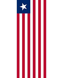 Vertical Hanging Beam Flag: Liberia |  portrait flag | 6m² | 64sqft | 400x150cm | 13x5ft