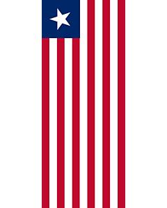 Vertical Hanging Swivel Crossbar Banner Flag: Liberia |  portrait flag | 3.5m² | 38sqft | 300x120cm | 10x4ft