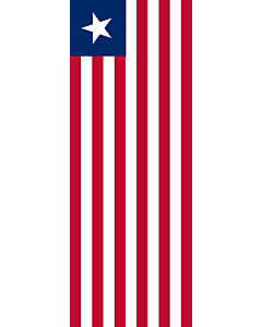 Vertical Hanging Swivel Crossbar Banner Flag: Liberia |  portrait flag | 6m² | 64sqft | 400x150cm | 13x5ft