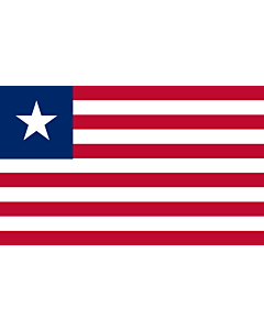 Indoor-Flag: Liberia 90x150cm