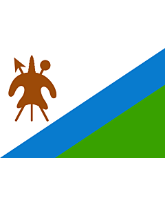Flag: Lesotho 1987-2006 |  landscape flag | 2.16m² | 23sqft | 120x180cm | 4x6ft