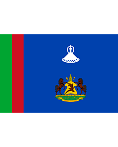 Flag: Royal Standard of Lesotho between 1966 - 1987 |  landscape flag | 2.16m² | 23sqft | 120x180cm | 4x6ft