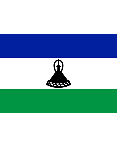 Drapeau d'Intérieur prestige: Lesotho 90x150cm