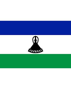 Indoor-Flag: Lesotho 90x150cm