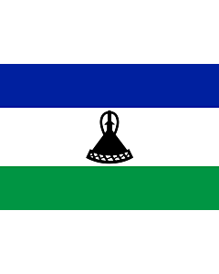 Flag: Lesotho |  landscape flag | 0.375m² | 4sqft | 50x75cm | 1.5x2.5ft