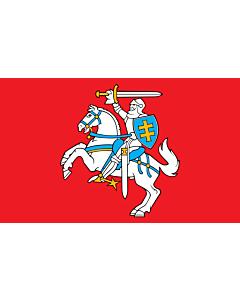 Flag: Lithuania |  landscape flag | 6.7m² | 72sqft | 200x335cm | 6x11ft