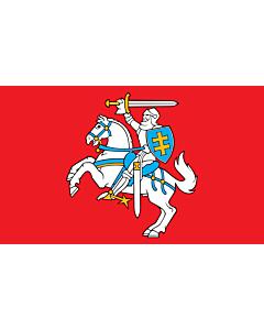 Flag: Lithuania |  portrait flag | 6m² | 64sqft | 400x150cm | 13x5ft