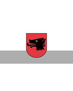 Flag: City of Balvi, Latvia |  landscape flag | 2.16m² | 23sqft | 100x200cm | 40x80inch