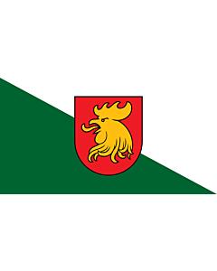 Flag: City of Madona, Latvia |  landscape flag | 1.35m² | 14.5sqft | 85x160cm | 33x60inch