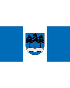 Flag: Ogre, Latvia |  landscape flag | 0.06m² | 0.65sqft | 17x34cm | 7x14inch