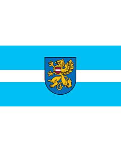 Flag: Rēzekne, Latvia |  landscape flag | 2.16m² | 23sqft | 100x200cm | 40x80inch