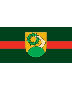 Flag: City of Talsi, Latvia |  landscape flag | 1.35m² | 14.5sqft | 80x160cm | 30x60inch