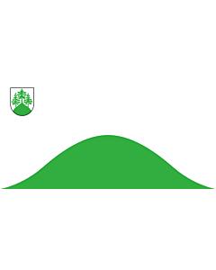 Flag: City of Tukums, Latvia |  landscape flag | 1.35m² | 14.5sqft | 80x160cm | 30x60inch